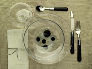 Szklany talerz świąteczny