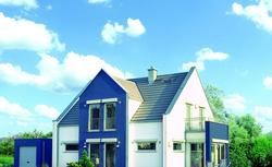 Ryzalit na elewacji domu. Wyrazisty detal pozwalający na rozbudowę bryły domu