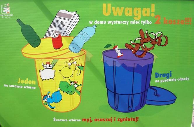 Segregacja śmieci w Krakowie