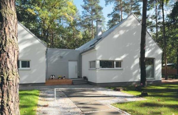 Parterowy dom o prostej bryle